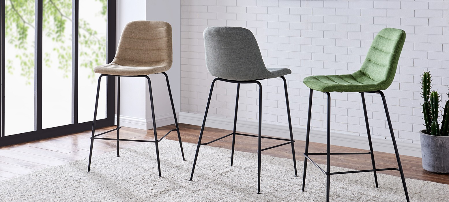 Fabric Counter Stools