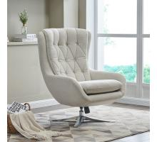 Maia KD Fabric Swivel Chair, Cardiff Cream *NEW*/1350009-276