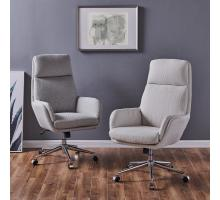 Presley KD Fabric Office Chair, Cardiff Gray *NEW*/1350010-410