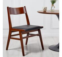 Norman PU Bamboo Chair, Black/Walnut *NEW*/1160021-BWL