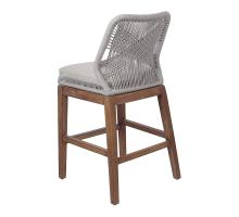 Matisse Rope Counter Stool, Gray *NEW*/7400033