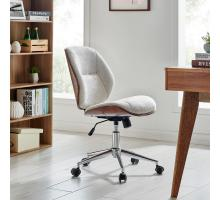 Shaun KD Fabric Bamboo Office Chair, Havana Linen/Walnut *NEW*/1160032-406WL