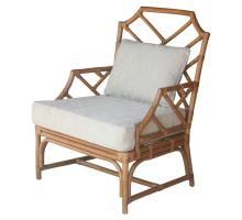 Kara Rattan Accent Arm Chair, Canary Brown *NEW*/2400043-CB