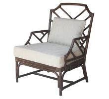 Kara Rattan Accent Arm Chair, Paloma Brown *NEW*/2400043-PB