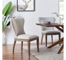 Dorsey Fabric Dining Side Chair Drift Wood Legs, Cardiff Gray/3900066-410