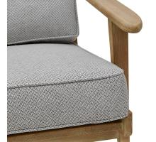 Albert Fabric Accent Arm Chair Brushed Smoke Frame, Cardiff Gray/3900063-410