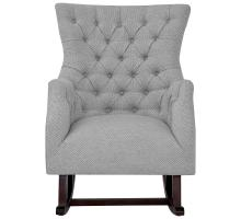 Abigail KD Fabric Tufted Rocking Arm Chair, Cardiff Gray *NEW*/3900072-410