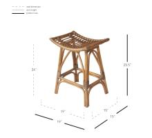 Imari Rattan Counter Stool, Canary Brown Black Washed *NEW*/2400039-CBBW