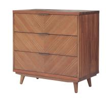 Piero KD Chevron Chest 3 Drawers, Monterey Brown/7800047