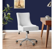 Charlotte KD Faux Fur Fabric Office Chair, Fleece White*NEW*/1900169-408