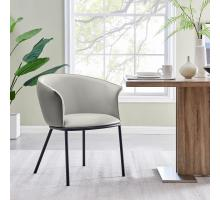 Seymor KD PU Dining Side Chair, Alpine Light Gray/ Alpine Dark Gray *NEW*/1240009-5059