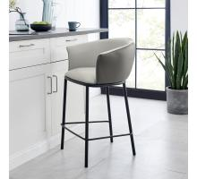 Seymor KD PU Counter Stool w/ Arms, Alpine Light Gray/ Alpine Dark Gray *NEW*/1240010-5059