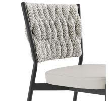 Leander KD Fabric/ PU Dining Side Chair, Alpine Light Gray/ Fairfax Gray *NEW*/1240012-5006
