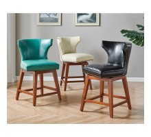 Howie KD Bonded Leather Swivel Counter Stool, Turquoise*NEW*/1900161-323