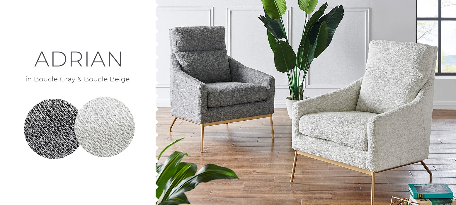 Luxe style accent chairs
